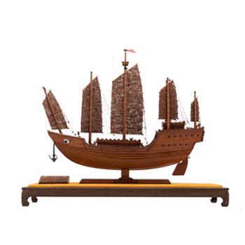 中国航海博物馆船模创意摆件礼品一帆风顺帆宝船