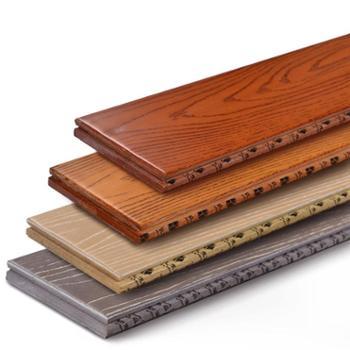纯实木地板仿古18mm锁扣地热环保耐磨进口原木地板