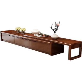 实木电视柜伸缩卧室茶几地柜组合套装小户型现代简约客厅家具