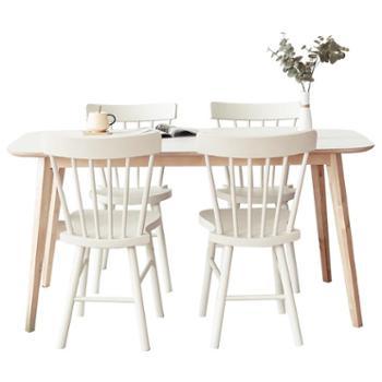 实木餐桌现代简约宜家用餐桌椅组合餐厅家具
