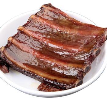乡恰坊柴火烟熏排骨腊肉500g农家手工自制咸肉四川湖南贵州特产腊排骨