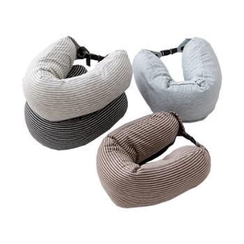 花蓉蓉u型枕旅行护颈枕U形针织棉枕头汽车办公室枕学生午睡靠枕