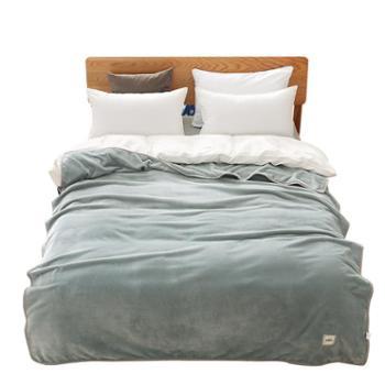 竹印象迪士尼木兰暖绒毯(藕荷色、灰蓝色)