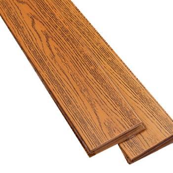 伐木时光 番龙眼仿古浅色实木地板