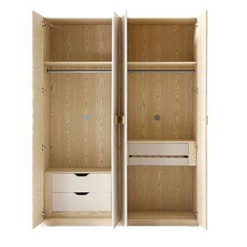 希尚衣柜四门衣柜简约现代家用衣橱柜经济型