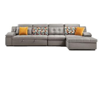 布艺沙发床组合现代简约沙发可拆洗布