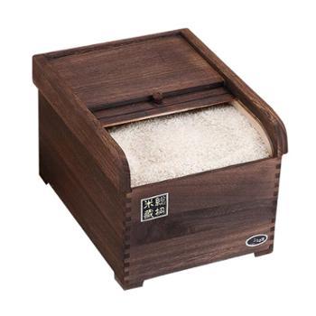 美厨木质米桶米缸储米箱防虫防潮10KGMCX494