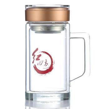 捷夫口杯 中国梦晶睿办公杯水晶杯玻璃杯透明茶杯