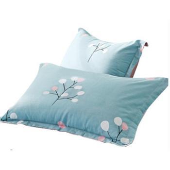 100%纯棉枕头套一对装