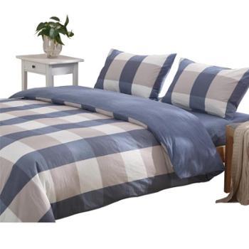 舒适蚕丝棉学生宿舍床上三件套全棉纯棉被套