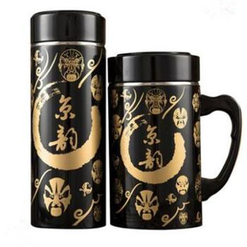 锦绣中原朱砂红紫砂保温杯男士商务套杯泡茶水杯礼品杯子宜兴茶杯