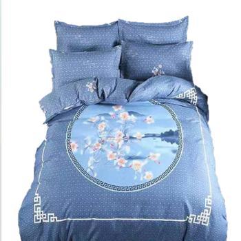 鸿顶 秋冬季 加厚立体棉活性 床上用品全棉四件套