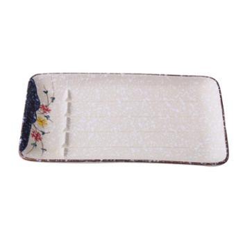 佰润居 沥油盘滤盘 日式创意陶瓷釉下彩长方沥油盘