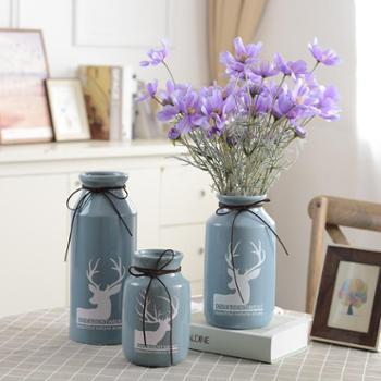 小清新陶瓷花瓶小号客厅插花家居装饰现代简约创意摆件