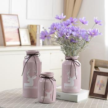 【花瓶】小清新陶瓷花瓶大号客厅插花家居装饰现代简约创意摆件