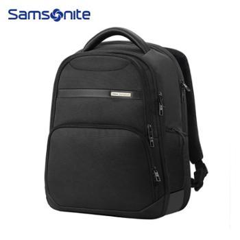 samsonite新秀丽39V双肩包通勤商务双肩背包电脑包大容量轻商务舒适挺阔09*黑色