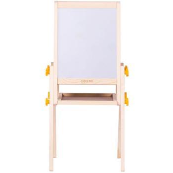 deli得力画板可升降双面儿童画板支架式磁性写字板涂鸦小黑板木制学生白板