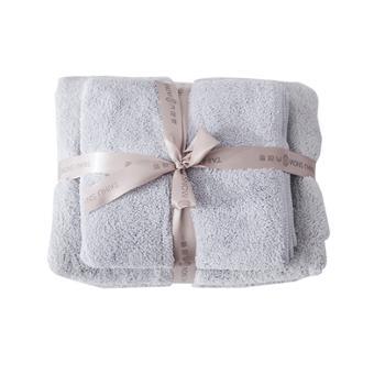 太湖雪速干毛巾速干浴巾套装 1条毛巾 1条浴巾 6款颜色随机发货