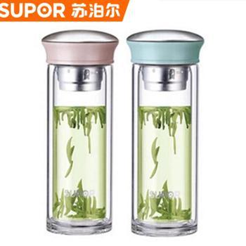 苏泊尔双层玻璃杯晶韵系列KC28AU2(一个)