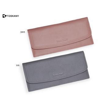 托斯卡尼TOSKANY头层牛皮休闲商务银包手拿包双色可选(灰色、浅啡色)