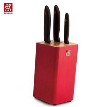 双立人TWINPoint红点水曲柳插刀架刀具四件套ZW-K307
