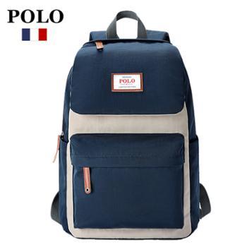 POLO大容量防水双肩包电脑包
