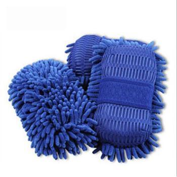 哈雷【1个】高档雪尼尔8字珊瑚洗车海绵汽车洗车手套珊瑚棉洗车巾