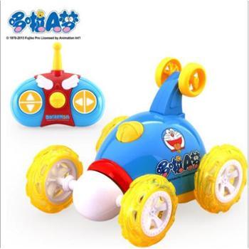 哆啦A梦遥控车翻斗车翻滚车遥控车儿童玩具车充电动模型