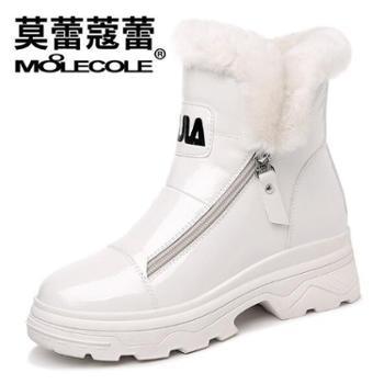 莫蕾蔻蕾 秋冬款加绒高帮韩版内增高防水雪地靴女鞋 8420
