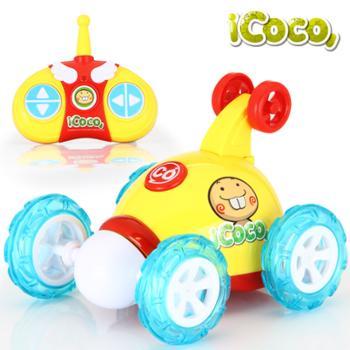 益米特技翻斗车儿童可充电翻滚特技车电动玩具车遥控车玩具