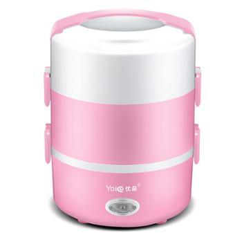 优益 电热饭盒 双层加热 电饭煲 蒸菜煮饭保温便携式