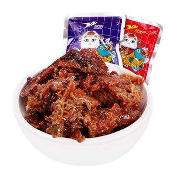 景明深海即食鱼小鱼干山东特产即食麻辣休闲食品鱼仔零食小吃250g/盒 香辣味