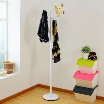 欧润哲卧室门厅树枝衣帽架落地创意多功能室内铁艺衣物包包挂架