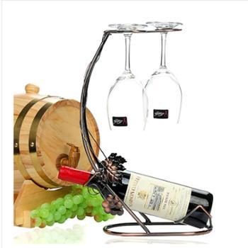 海盗船酒架高脚杯架欧式葡萄酒架时尚酒瓶架