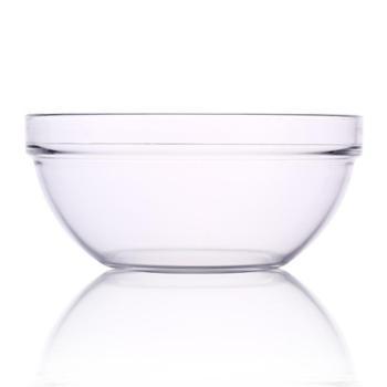 乐美雅透明可叠钢化玻璃碗23cm