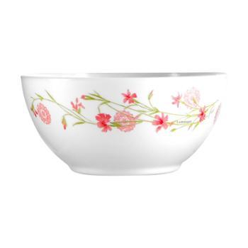 乐美雅法国进口迪瓦丽罗曼红欧珀钢化玻璃4寸餐碗(4只装)