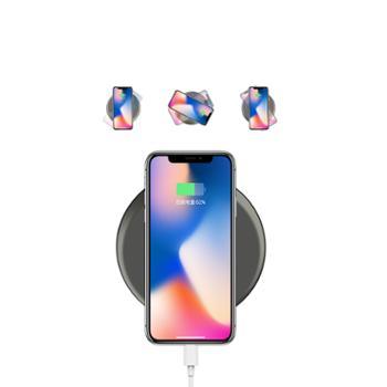 mking苹果11无线充三星/华为p40/小米10无线充快充版通用 灰色