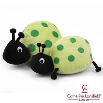 凯诗吉祥宝贝神奇瓢虫抱枕绿色大款