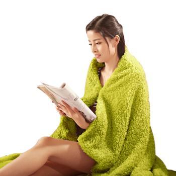 凯诗风尚 艾薇系列加厚羊羔绒披肩毯 盖毯 膝毯 午睡毯 懒人毯
