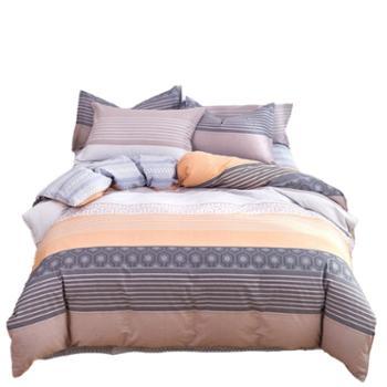 凯诗风尚田园风全棉活性印花四件套双人床上用品