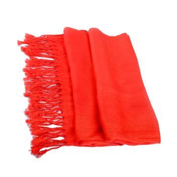 本命年仿羊绒大红色围巾礼盒装