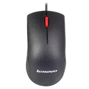 联想M120鼠标USB有线大红点台式笔记本电脑thinkpad鼠标