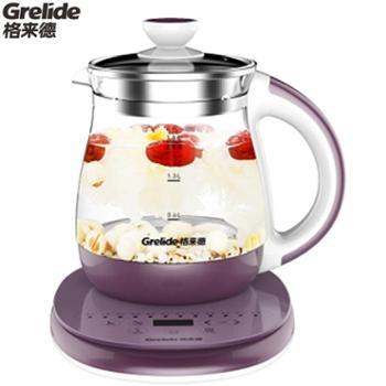 格来德/Grelide电热水壶G118E1.8L触屏式玻璃保温