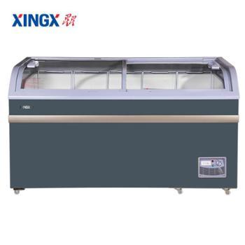 【德百】星星(XINGX)SDSC-500BY500升冷藏冷冻转换单温冰柜冷柜卧式商用大冷柜展示柜圆弧透明玻璃推拉门