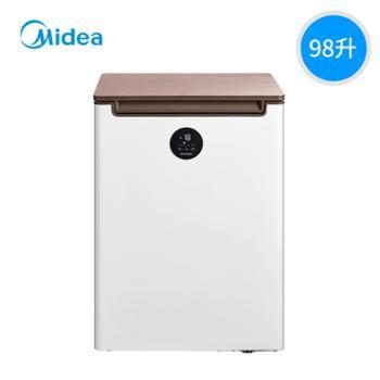 美的BDBC-98KEV凡帝罗家用98升冰柜单门双温冷冻藏小冰箱