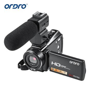 欧达/Ordro 全高清摄像摄影机1080PDV视频数码可接麦克风 HDV-V7PLUS