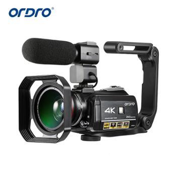 欧达/Ordro 摄像机IPS屏超清4K可接广角麦克风DV全高清视频补光灯 HDR-AC3
