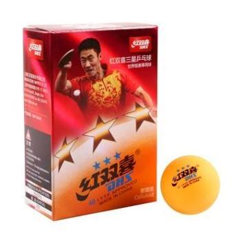 红双喜(黄)三星40mm乒乓球1840AY(新老包装随机发货6个/盒)1盒