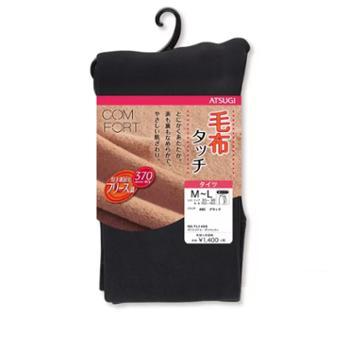 厚木 加绒加厚打底裤 聚酯纤维92.5% 黑色370D