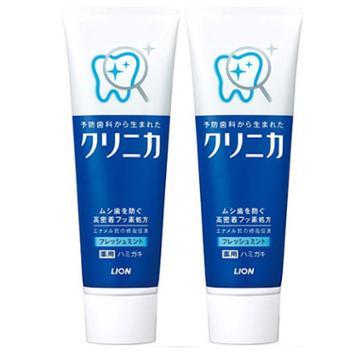 狮王/LION 齿力佳酵素牙膏清新薄荷130g*2支